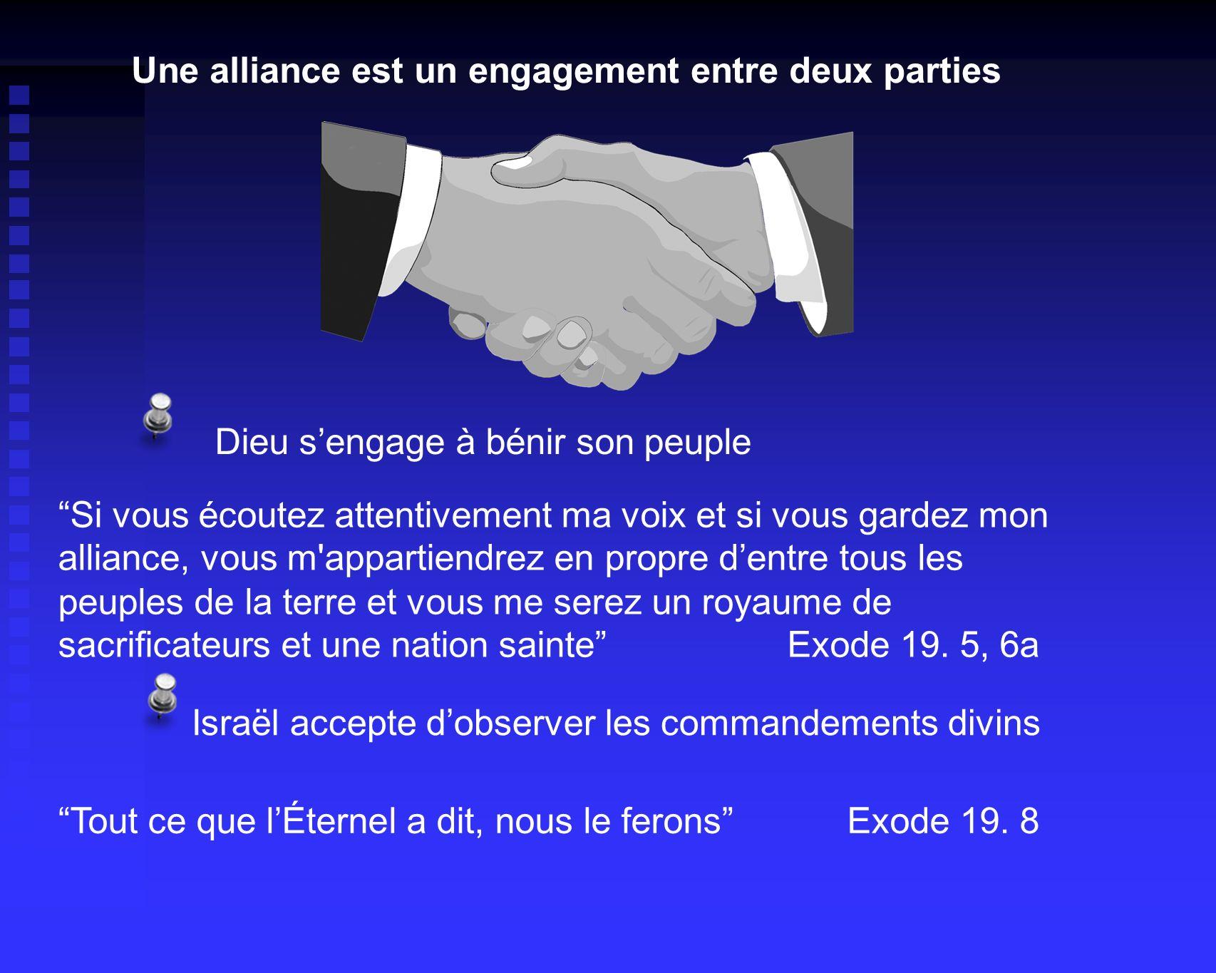 Une alliance est un engagement entre deux parties