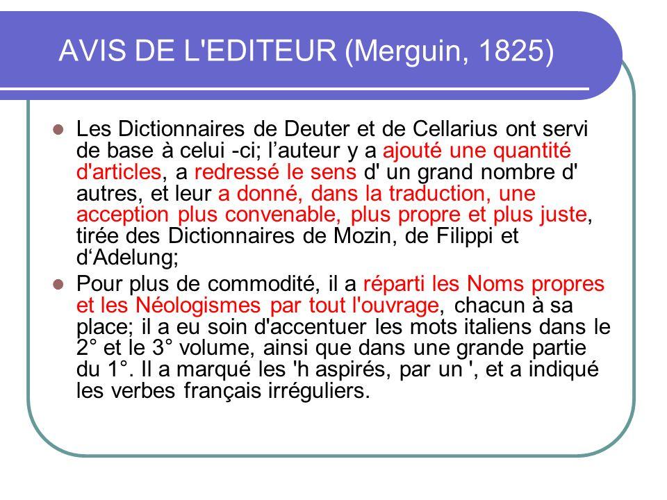 AVIS DE L EDITEUR (Merguin, 1825)