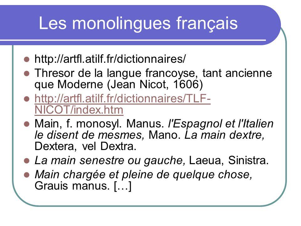 Les monolingues français