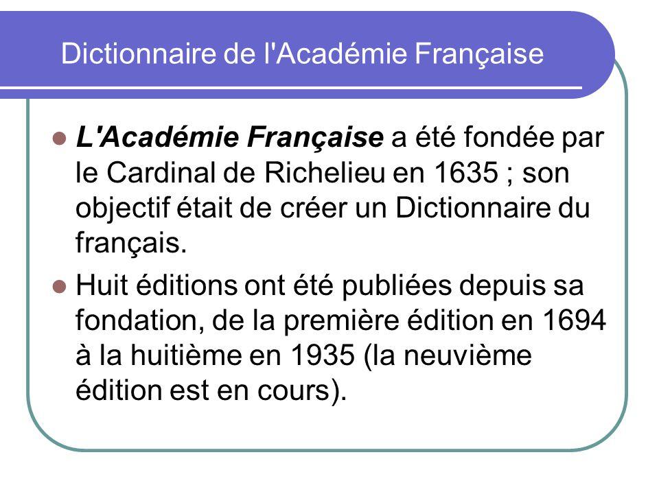 Dictionnaire de l Académie Française
