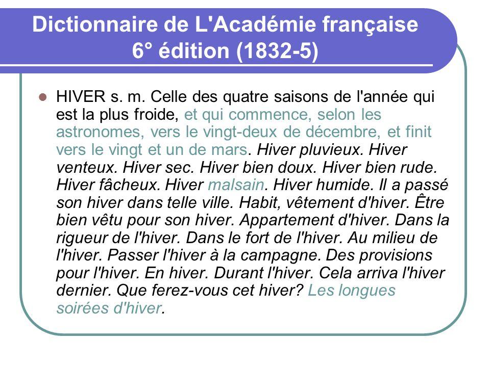 Dictionnaire de L Académie française 6° édition (1832-5)