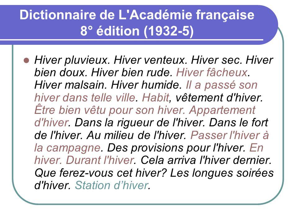 Dictionnaire de L Académie française 8° édition (1932-5)