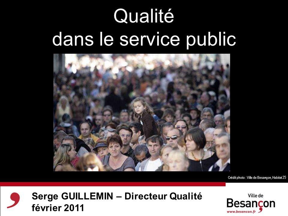 Qualité dans le service public