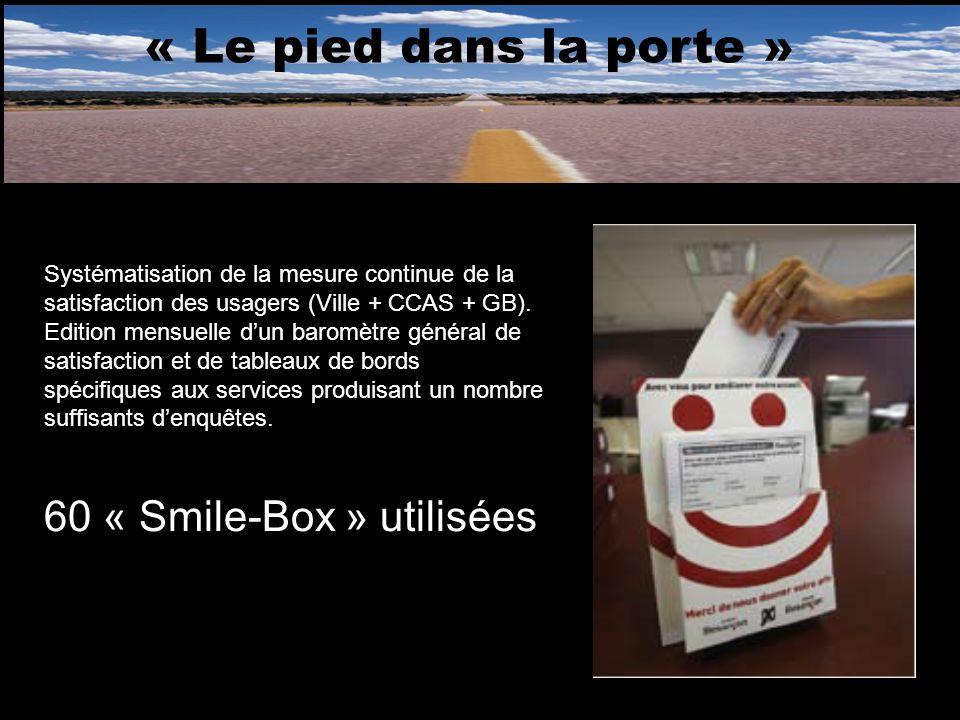 « Le pied dans la porte » 60 « Smile-Box » utilisées