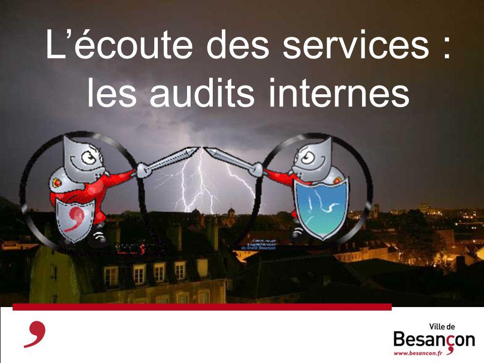 L'écoute des services : les audits internes