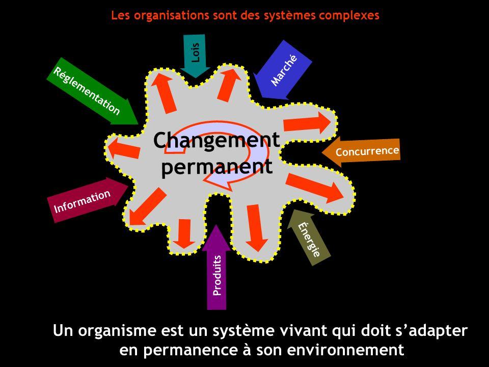 Les organisations sont des systèmes complexes