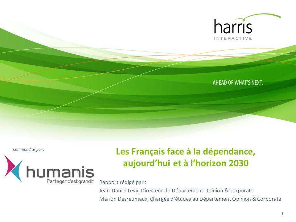 Les Français face à la dépendance, aujourd'hui et à l'horizon 2030