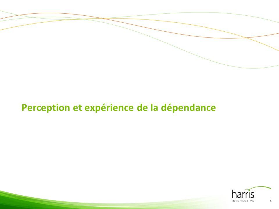 Perception et expérience de la dépendance