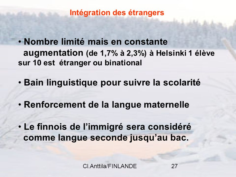 Intégration des étrangers