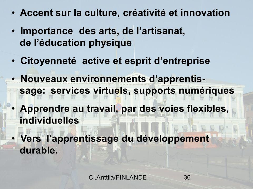 Accent sur la culture, créativité et innovation