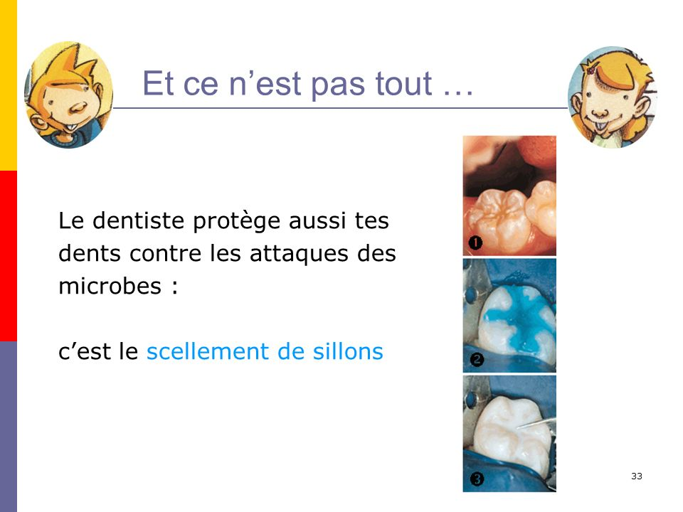 Et ce n'est pas tout … Le dentiste protège aussi tes