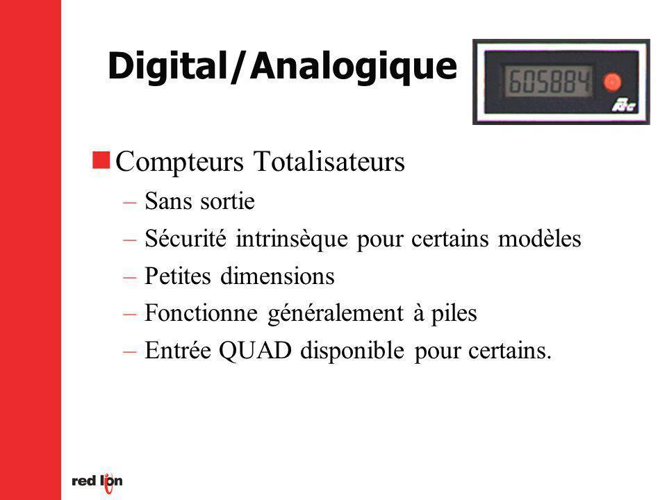 Digital/Analogique Compteurs Totalisateurs Sans sortie