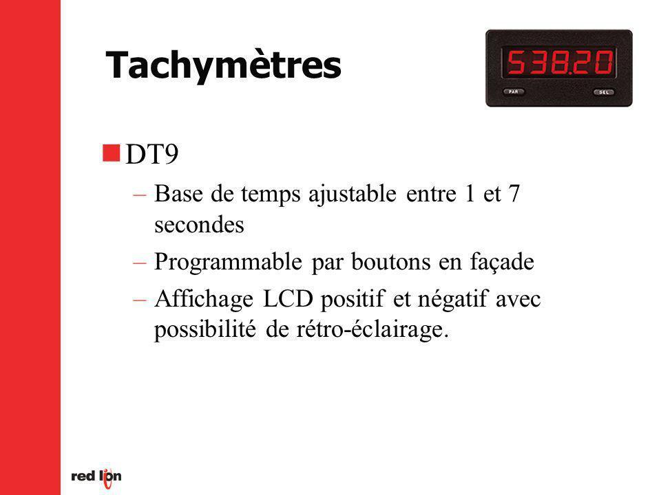 Tachymètres DT9 Base de temps ajustable entre 1 et 7 secondes
