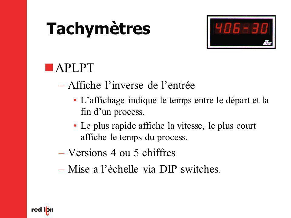 Tachymètres APLPT Affiche l'inverse de l'entrée