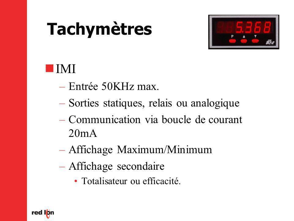 Tachymètres IMI Entrée 50KHz max.