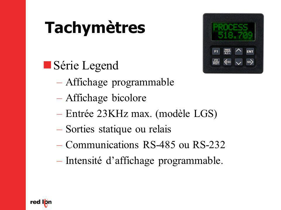 Tachymètres Série Legend Affichage programmable Affichage bicolore