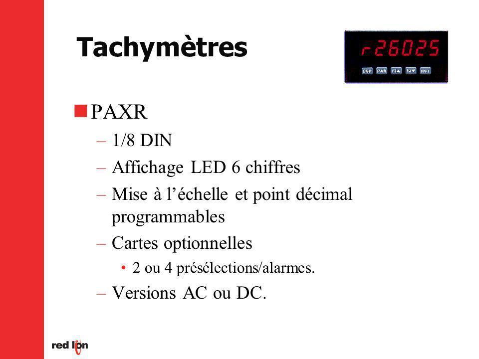 Tachymètres PAXR 1/8 DIN Affichage LED 6 chiffres