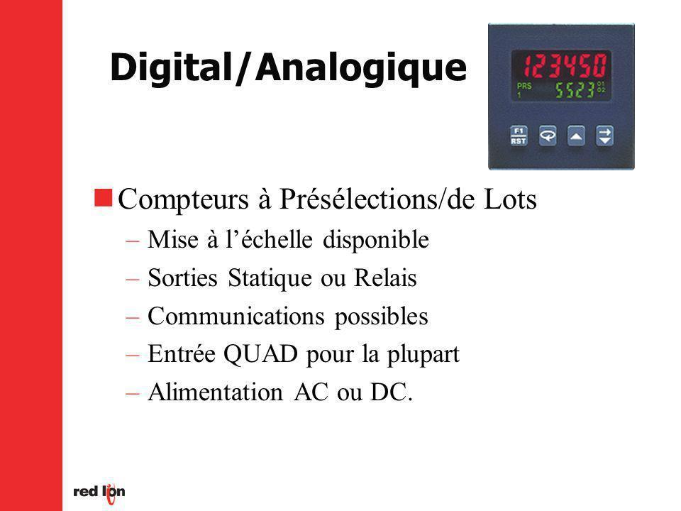 Digital/Analogique Compteurs à Présélections/de Lots