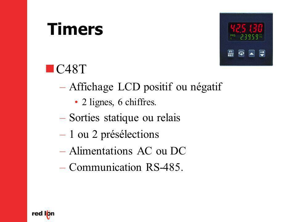 Timers C48T Affichage LCD positif ou négatif