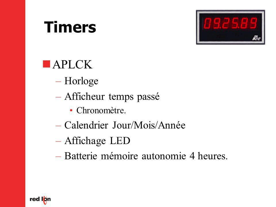 Timers APLCK Horloge Afficheur temps passé Calendrier Jour/Mois/Année