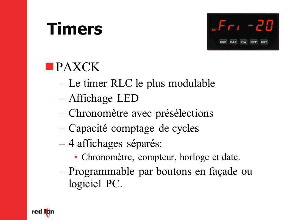 Timers PAXCK Le timer RLC le plus modulable Affichage LED
