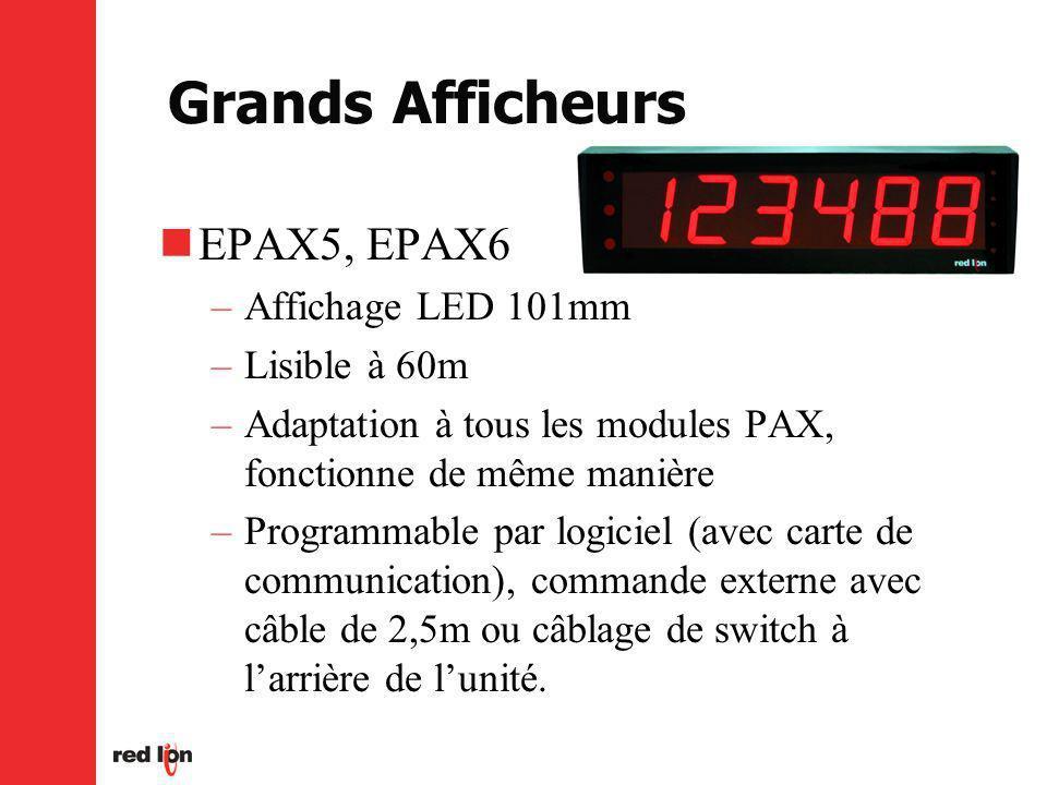 Grands Afficheurs EPAX5, EPAX6 Affichage LED 101mm Lisible à 60m