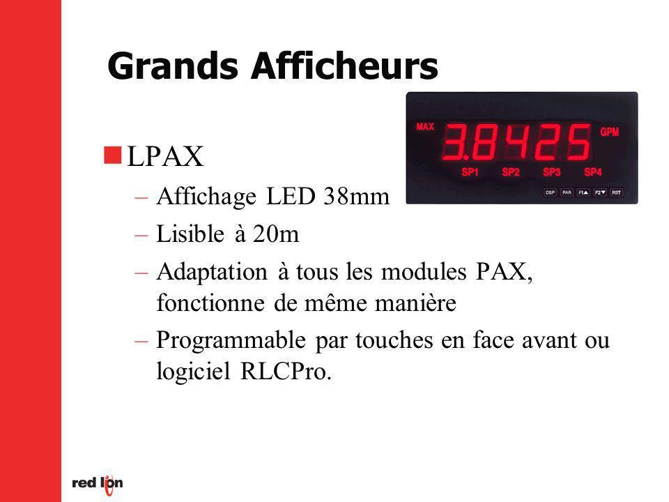 Grands Afficheurs LPAX Affichage LED 38mm Lisible à 20m