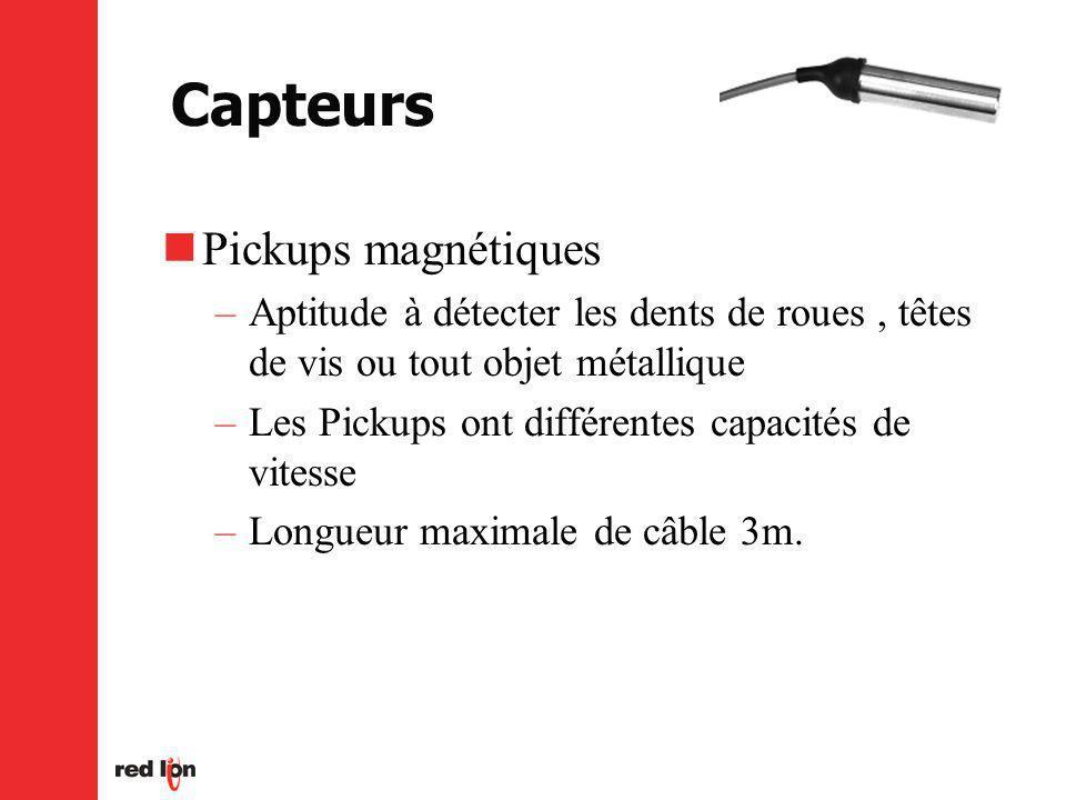 Capteurs Pickups magnétiques