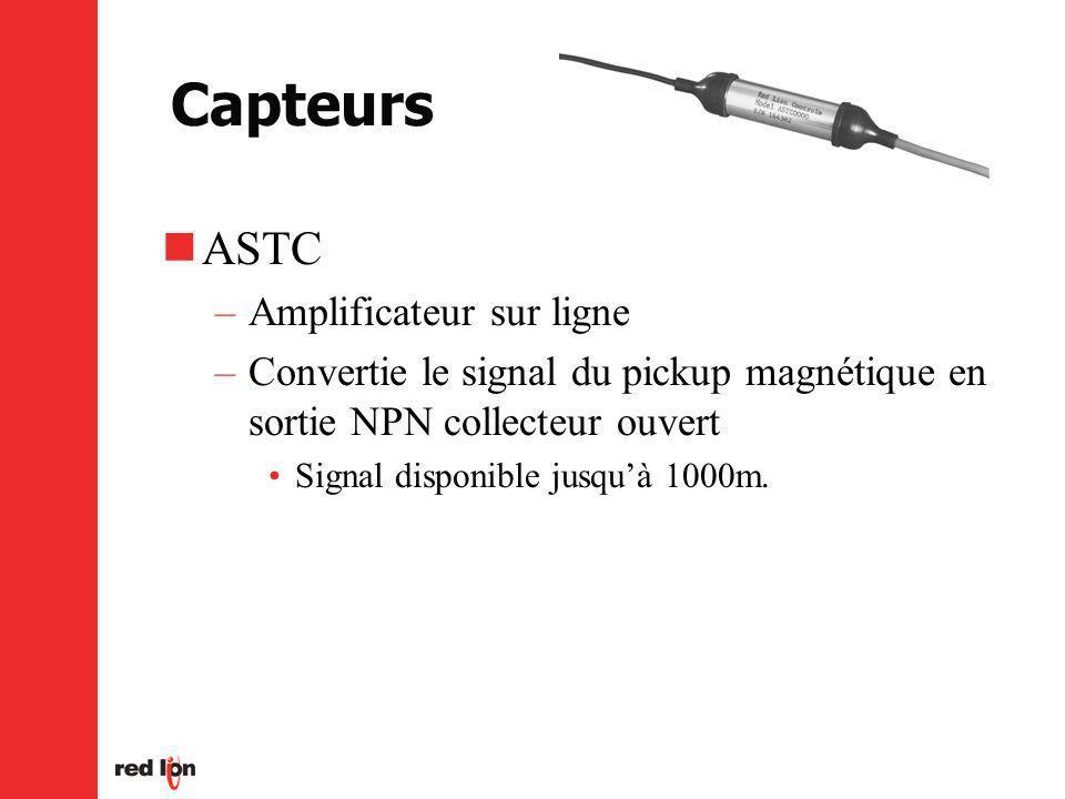Capteurs ASTC Amplificateur sur ligne