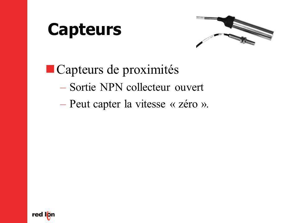 Capteurs Capteurs de proximités Sortie NPN collecteur ouvert