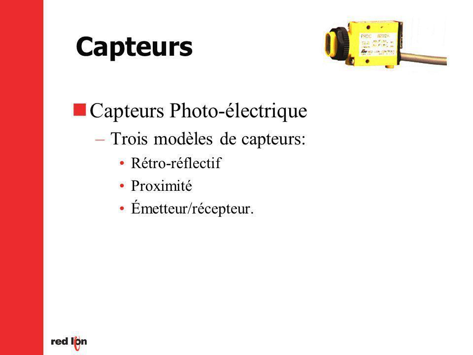 Capteurs Capteurs Photo-électrique Trois modèles de capteurs: