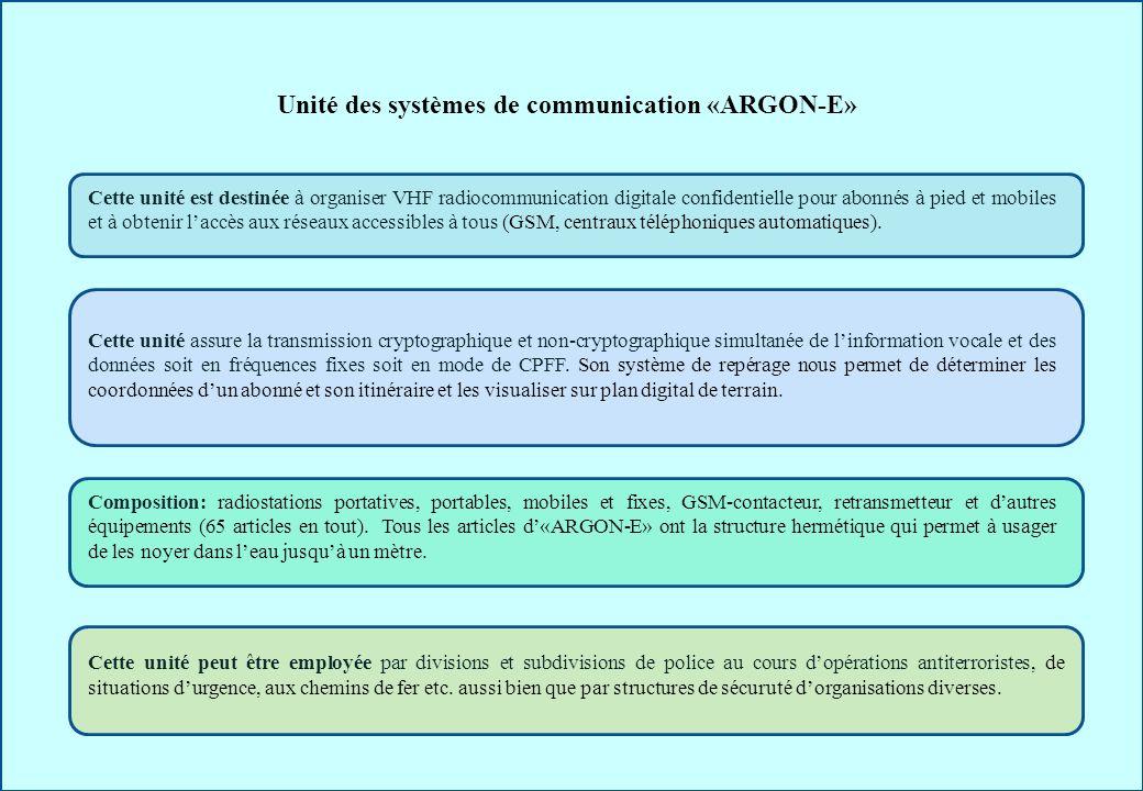 Unité des systèmes de communication «ARGON-E»