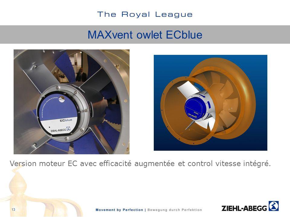 MAXvent owlet ECblue Version moteur EC avec efficacité augmentée et control vitesse intégré. 13