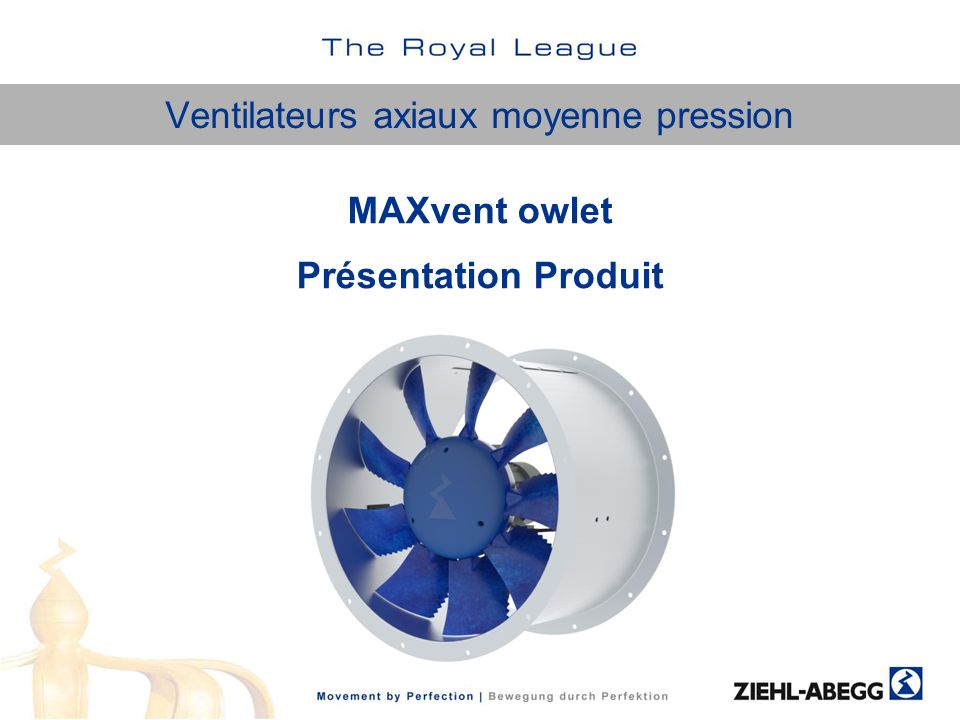 Ventilateurs axiaux moyenne pression