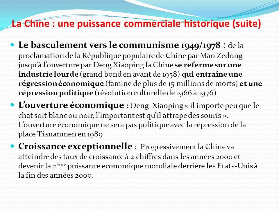 La Chine : une puissance commerciale historique (suite)