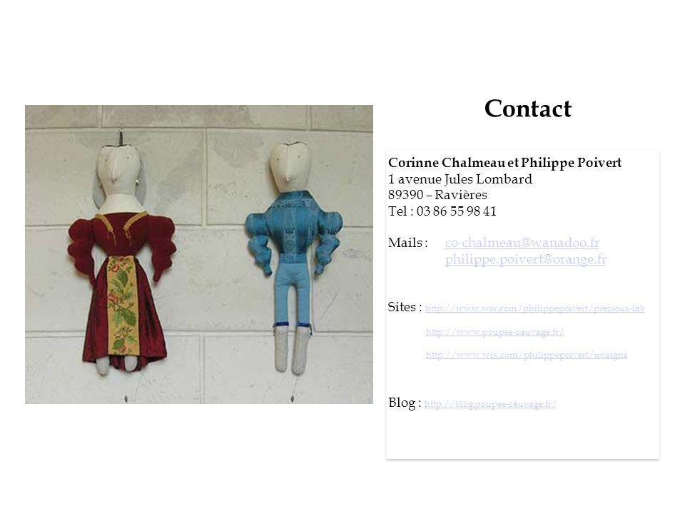 Contact Corinne Chalmeau et Philippe Poivert 1 avenue Jules Lombard