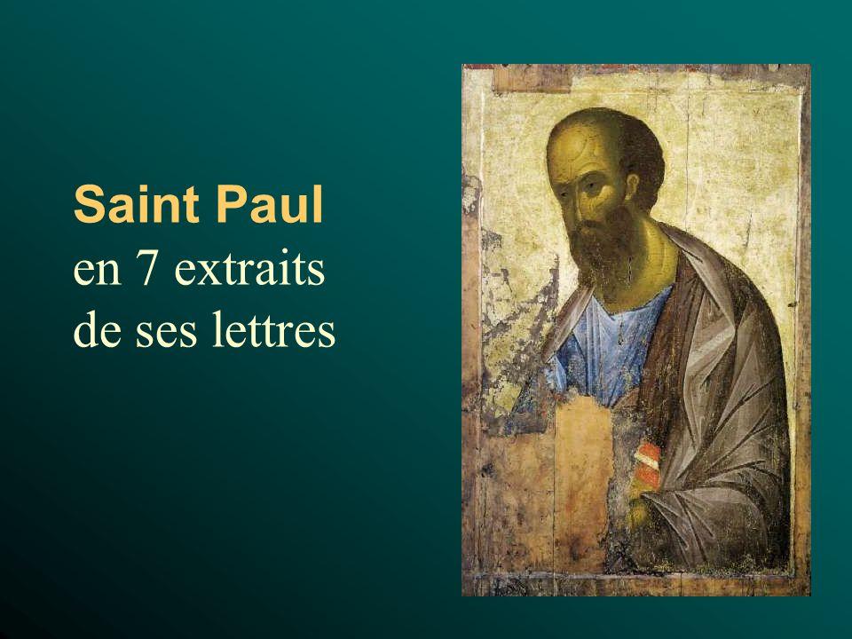 Saint Paul en 7 extraits de ses lettres