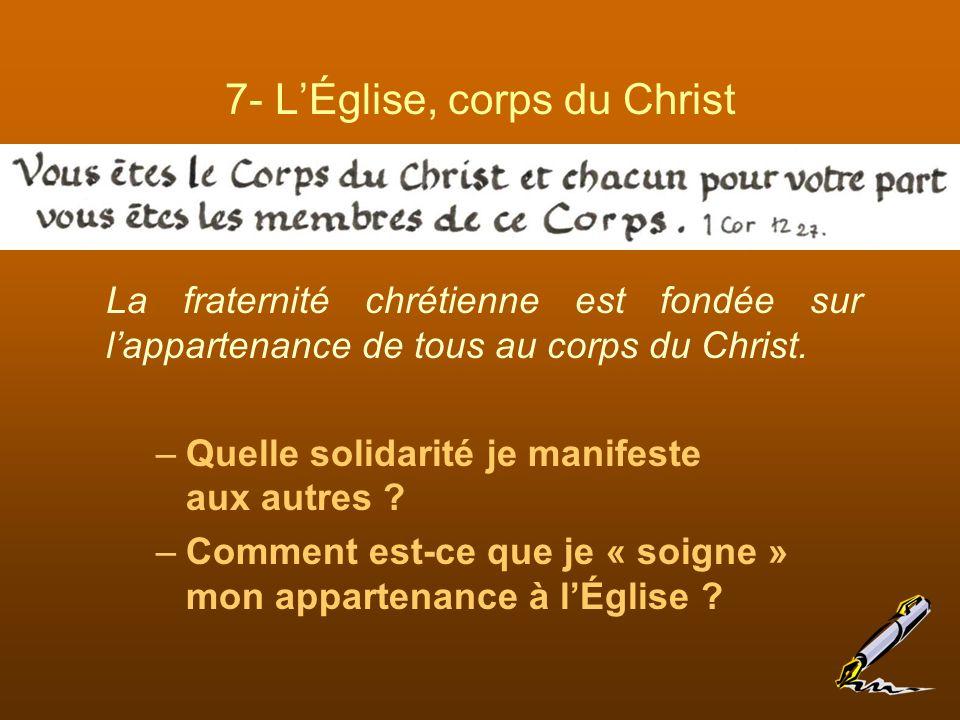 7- L'Église, corps du Christ