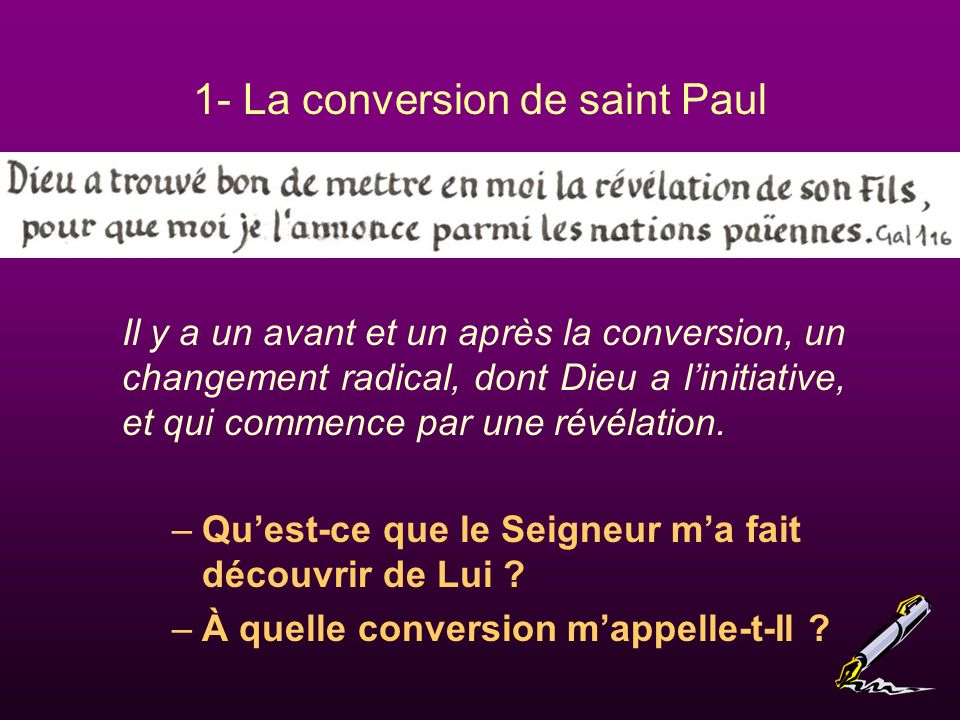 1- La conversion de saint Paul