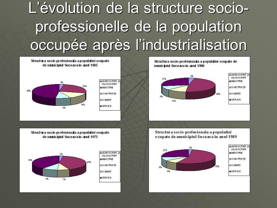 L'évolution de la structure socio-professionelle de la population occupée après l'industrialisation
