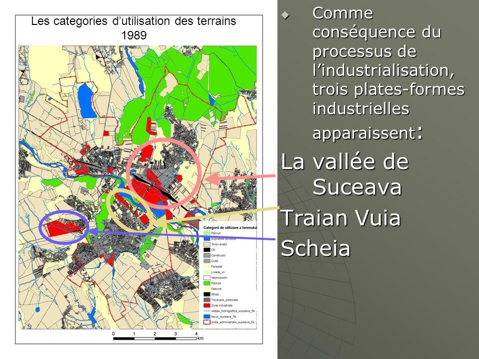 Les categories d'utilisation des terrains 1989