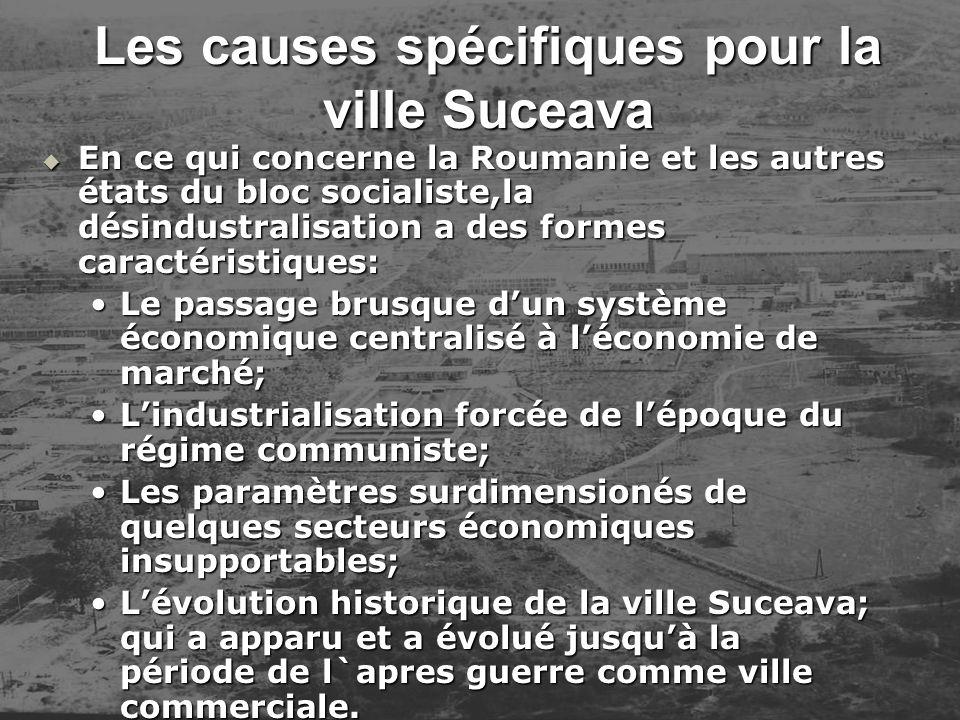 Les causes spécifiques pour la ville Suceava