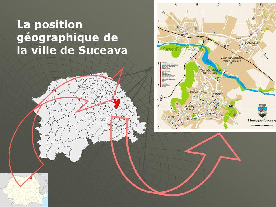 La position géographique de la ville de Suceava