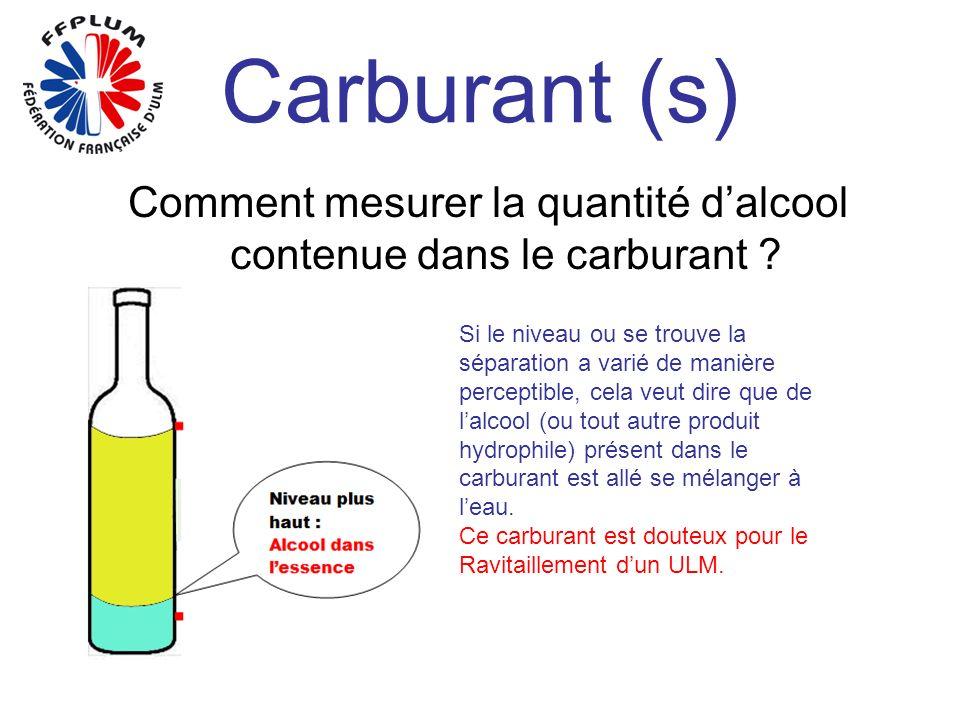 Comment mesurer la quantité d'alcool contenue dans le carburant