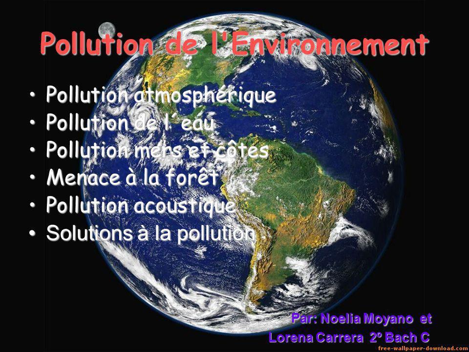Pollution de l Environnement