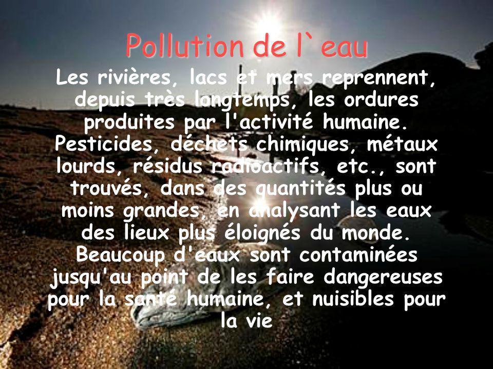 Pollution de l`eau