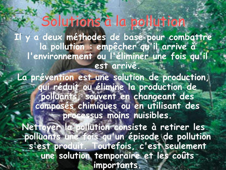Solutions à la pollution