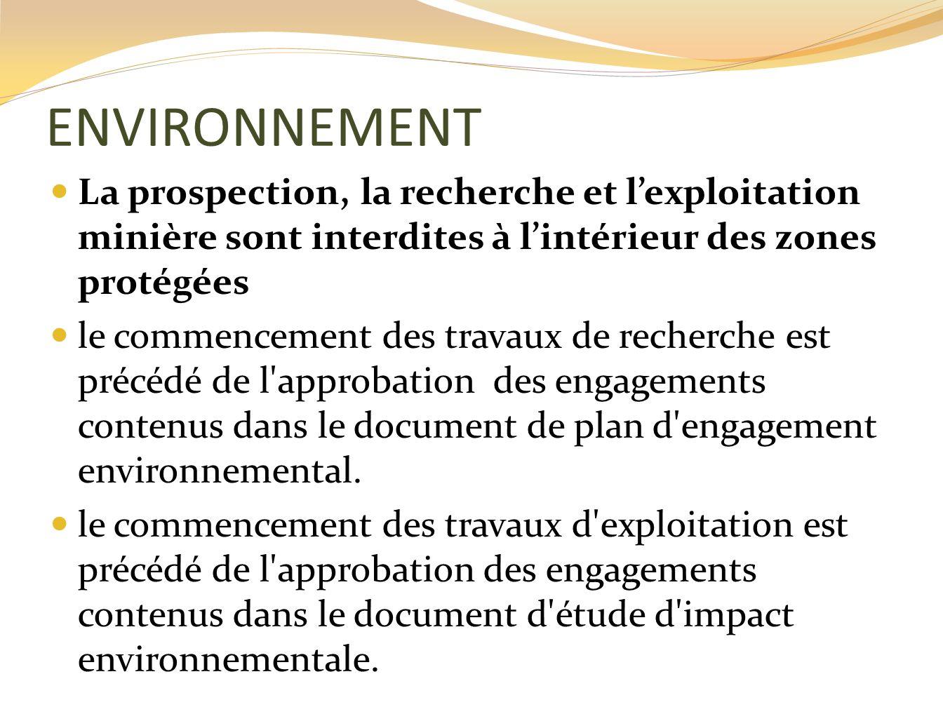 Historique des differentes reformes du secteur minier - Bureau de recherche geologique et miniere ...
