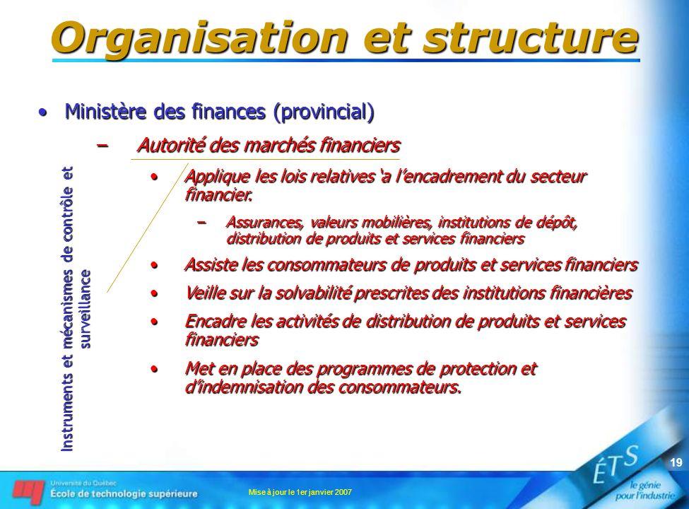 Organisation et structure