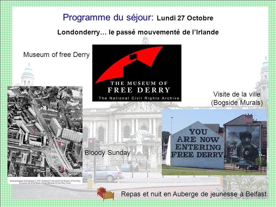 Londonderry… le passé mouvementé de l'Irlande
